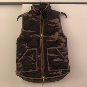 J. Crew Camo Puffer Vest